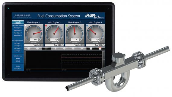Insatech marine fuel flow meter consumption system